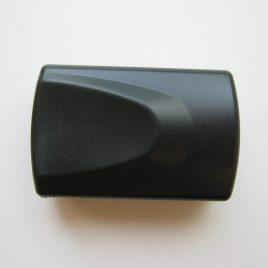 Nagyító, 30X kihúzható, fekete, ledes