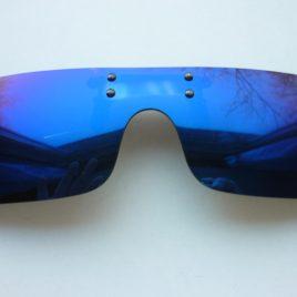 Szemüvegre csíptethető, polarizált lencse UV400, kék vagy zöld