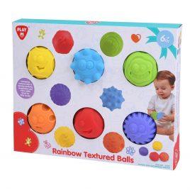 Tapintásfejlesztő puha labda 6 db
